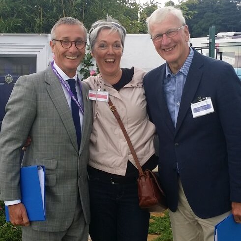 Schmoozing with RHS Judges Tatton